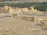 Hill Top View, Archaelogical Ruins, Palmyra, Unesco World Heritage Site, Syria, Middle East Photographic Print by Christian Kober
