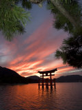 Torii Shrine Gate in the Sea, Miyajima Island, Honshu, Japan Photographic Print by Christian Kober