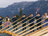 Aplhorn Players, Unspunnen Bicentenary Festival, Interlaken, Jungfrau Region, Switzerland Photographic Print by Christian Kober