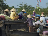 Floating Market, Cantho, Mekong Delta, Southern Vietnam, Southeast Asia Photographic Print by Christian Kober
