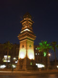 Clock Tower, Downtown at Night, Aleppo (Haleb), Syria, Middle East Photographic Print by Christian Kober