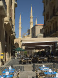 Street Cafe, New Mosque, Beirut, Lebanon, Middle East Photographic Print by Christian Kober