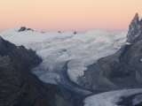 Monte Rosa Glacier at Dusk, Zermatt Alpine Resort, Valais, Switzerland Photographic Print by Christian Kober