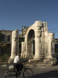 Roman Arch, Damascus, Syria, Middle East Photographic Print by Christian Kober