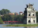 Perfume Pagoda, the Hup Bridge, Hoan Kiem Lake, Hanoi, Northern Vietnam, Southeast Asia Photographic Print by Christian Kober