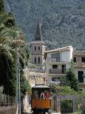 Tren De Soller Tramway, Soller, Mallorca (Majorca), Balearic Islands, Spain, Mediterranean Photographic Print by Christian Kober