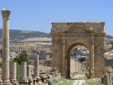 North Gate, Roman City, Jerash, Jordan, Middle East Photographic Print by Christian Kober