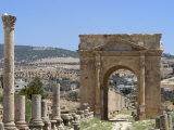 North Gate, Roman City, Jerash, Jordan, Middle East Photographic Print by Christian Kober