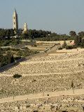 Jewish Cemetery, Mount of Olives, Jerusalem, Israel, Middle East Photographic Print by Christian Kober