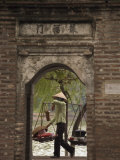 Lady Carrying Baskets, Hoan Kiem Lake, Hanoi, Northern Vietnam, Southeast Asia Photographic Print by Christian Kober