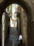 Jewish Man in Traditional Clothes, Old Walled City, Jerusalem, Israel, Middle East Photographic Print by Christian Kober