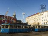 Tram in City Centre Square, Zagreb, Croatia Photographic Print by Christian Kober