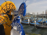 Masked Faces and Costume at the Venice Carnival, Venice, Italy Photographic Print by Christian Kober