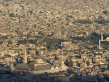 Aerial View of City Including the Umayyad Mosque, Unesco World Heritage Site, Damascus, Syria Photographic Print by Christian Kober
