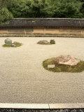 Ryoanji Temple Rock Garden, Ryoan-Ji, Unesco World Heritage Site, Kyoto City, Honshu, Japan Photographic Print by Christian Kober