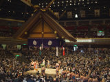Sumo Wrestlers, Kokugikan Hall Stadium, Tokyo, Japan Photographic Print by Christian Kober