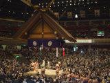 Sumo Wrestlers, Kokugikan Hall Stadium, Tokyo, Japan Photographic Print by Christian Kober