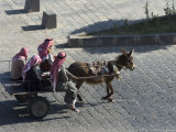 Arab Men in Donkey Cart, Bosra, Syria, Middle East Photographic Print by Christian Kober