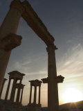 Sunset, Archaelogical Ruins, Palmyra, Unesco World Heritage Site, Syria, Middle East Photographic Print by Christian Kober