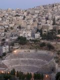 Roman Theatre in the Evening, Amman, Jordan, Middle East Photographic Print by Christian Kober
