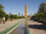 Koutoubia Minaret, Marrakesh, Morocco, North Africa, Africa Photographic Print by Christian Kober