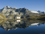 Perfect Reflection in Lake at Schwarzee Paradise, Zermatt Alpine Resort, Switzerland Lámina fotográfica por Christian Kober