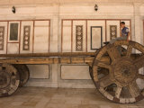 Boy on Top of Big Wheeled Cart, Umayyad Mosque, Damascus, Syria, Middle East Photographic Print by Christian Kober