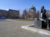 Statue of Marx and Engels, Alexanderplatz Square, Mitte, Berlin, Germany Photographic Print by Richard Nebesky