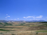 Fields, Island of Sicily, Italy, Mediterranean Photographic Print by Oliviero Olivieri