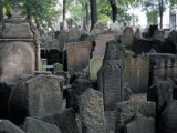 Headstones in the Graveyard of the Jewish Cemetery, Josefov, Prague, Czech Republic Photographic Print by Richard Nebesky