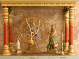 Shrine with Hindu Deity, a Dancing Shiva, at Sri Maha Mariamman Temple, Kuala Lumpur, Malaysia Photographic Print by Richard Nebesky