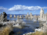 Landscape of Tufa Formations at Mono Lake, California, USA Photographic Print by Richard Nebesky