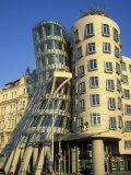 Exterior of the Dancing House at Rasinovo Embankment, Nove Mesto, Prague, Czech Republic Photographic Print by Richard Nebesky