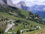 Eastern Road Below Gardena Pass, 2121M, Dolomites, Alto Adige, Italy Photographic Print by Richard Nebesky