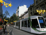 New Tram in Bourke Street Mall in the City, Melbourne, Victoria, Australia Photographic Print by Richard Nebesky