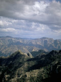 View from the Copper Canyon Train, Mexico, North America Fotografisk tryk af Oliviero Olivieri