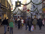 Kobmagergade at Christmas, Copenhagen, Denmark, Scandinavia Photographic Print by Sergio Pitamitz
