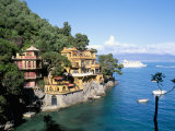 Portofino, Liguria, Italy, Mediterranean Fotografisk tryk af Oliviero Olivieri