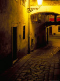 Bastova Street is a Fine Example of Historical Street in City's Old District, Bratislava, Slovakia Photographic Print by Richard Nebesky