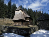 Exterior of Wooden Ruthenian Orthodox Church in Village of Zuberec, Zilina Region, Slovakia Photographic Print by Richard Nebesky