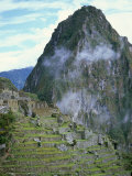 Inca Archaeological Site of Machu Picchu, Unesco World Heritage Site, Peru, South America Fotografisk tryk af Oliviero Olivieri