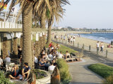 Cafe at the Beach, St. Kilda, Melbourne, Victoria, Australia Photographic Print by Richard Nebesky