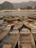Boats, Limestone Mountain Scenery, Tam Coc, Ninh Binh, South of Hanoi, North Vietnam Photographic Print by Christian Kober