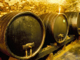 Wooden Kegs for Ageing Wine in Cellar of Pavel Soldan in Village of Modra, Slovakia Photographic Print by Richard Nebesky