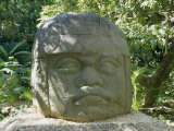 Olmec Stone Head at Parque-Museo La Venta, Villahermosa, Tabasco, Mexico, North America Photographic Print by Richard Nebesky