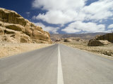 Road Through Rocky Landscape, Jordan, Middle East Photographic Print by Sergio Pitamitz