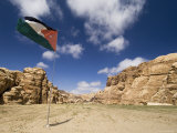 Jordanian Flag, Jordan, Middle East Photographic Print by Sergio Pitamitz