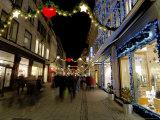 Stroget Ostergade Shopping Area at Christmas, Copenhagen, Denmark, Scandinavia Photographic Print by Sergio Pitamitz