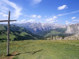 Christian Crosses Dominate Most Prominent Peaks in Alps, 2244M, Alto Adige Photographic Print by Richard Nebesky