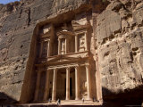 The Treasury Building (Al Khazneh), Petra, Unesco World Heritage Site, Jordan, Middle East Photographic Print by Sergio Pitamitz